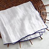 Como Blue Gauze Linen Napkin
