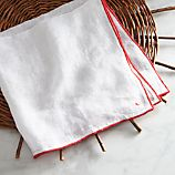 Como Red Gauze Linen Napkin