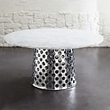 "Como 60"" Round Marble Top Dining Table"