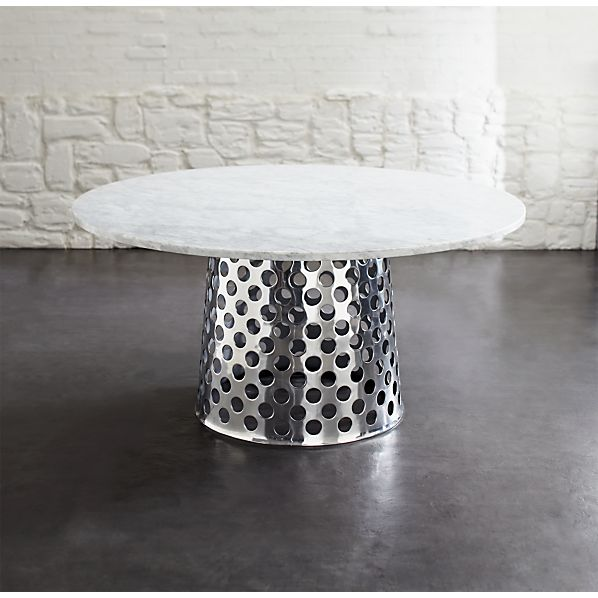 Como Round Marble Top Dining Tables