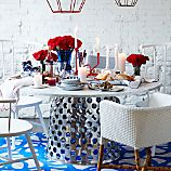 Como Round Marble Top Dining Table