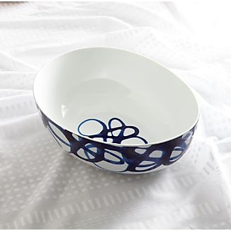 Como Swirl Serving Bowl
