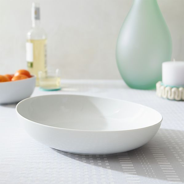 Como White Small Serving Bowl
