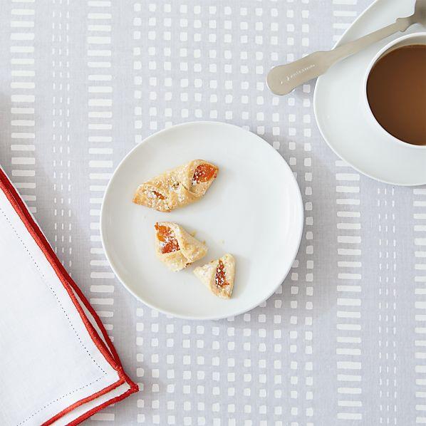 Como White Dessert Plate