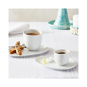 Como White Cups and Saucers