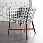 Como Grey and White Woven Chair.