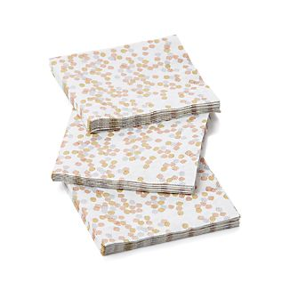 Set of 20 Confetti Metallic Beverage Napkins