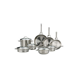 Calphalon Contemporary ™ Stainless 13-Piece Cookware Set with Double Bonus