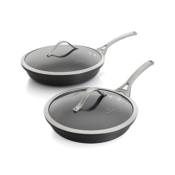 Calphalon Contemporary ™ Nonstick 2-Piece Frypan Set with Lids