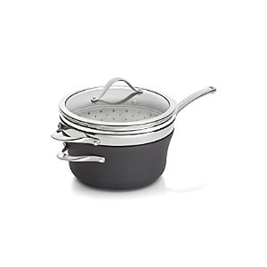 Calphalon Contemporary ™ Nonstick 4.5-qt. Saucepan with Steamer