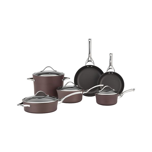 Calphalon® Contemporary® Nonstick Bronze 10-Piece Cookware Set with Double Bonus