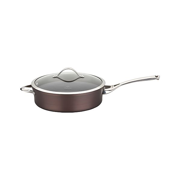 Calphalon® Contemporary® Nonstick Bronze Sauté Pan with Lid