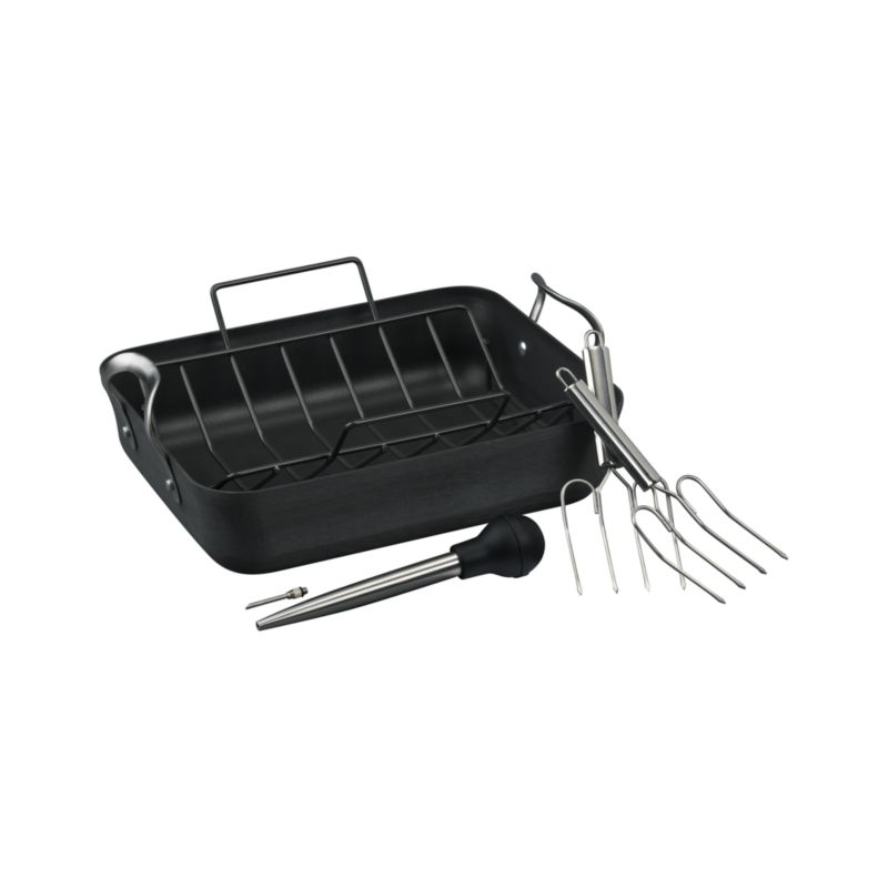 Calphalon® Contemporary® Nonstick Roaster with Lifters and Baster