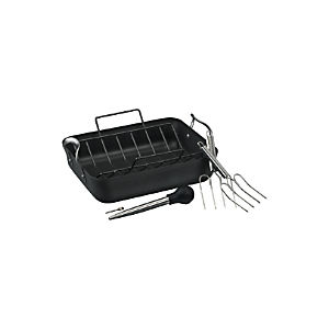 Calphalon® Contemporary Nonstick Roaster with Lifters and Baster