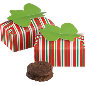 Cookie-Candy Boxes with Bows Set of Two