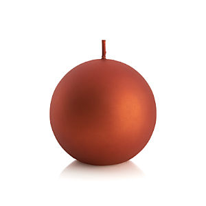 "Matte Copper 3.5"" Ball Candle"