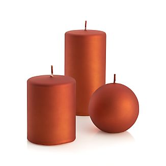 Matte Copper Candles