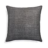 "Cordero Pewter Grey 20"" Pillow with Feather-Down Insert"