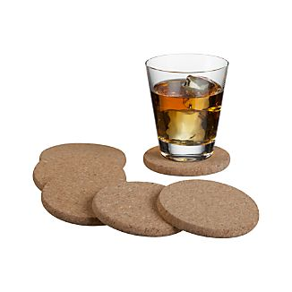 Cork Coasters Set of Six