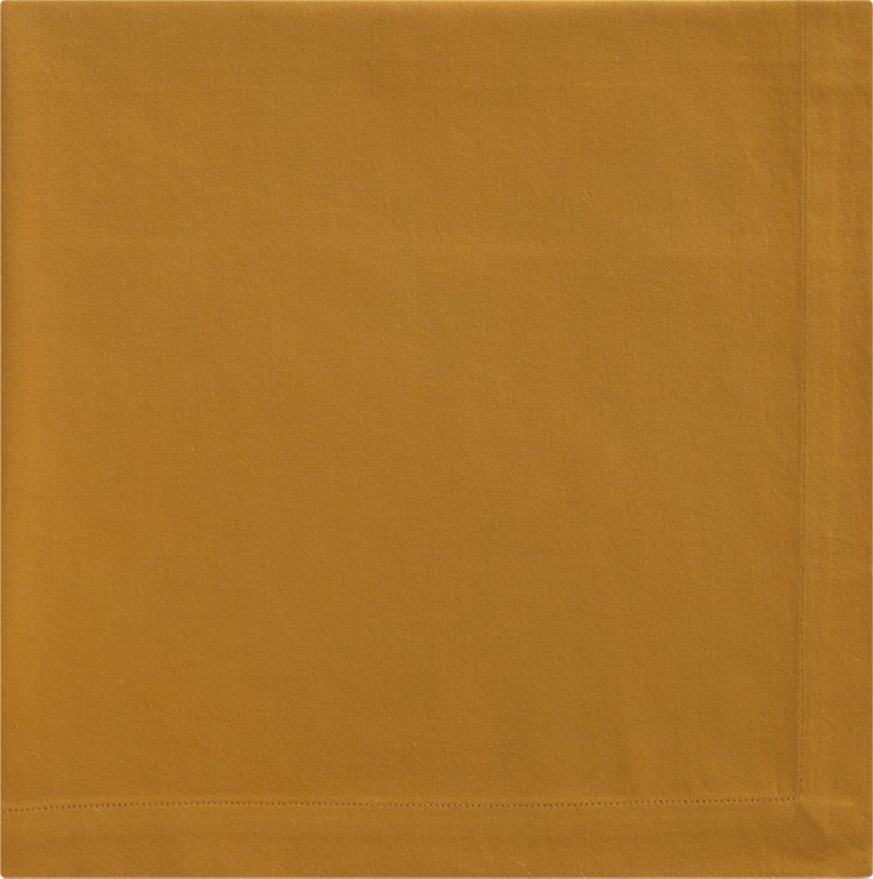 "Lustrous cotton sateen napkin coordinates with any and every table setting. Napkin is tailor finished with 1"" hem and mitered corners.<br /><br /><NEWTAG/><ul><li>100% cotton</li><li>Machine wash; tumble dry, warm iron as needed</li><li>Made in India</li></ul><br />"