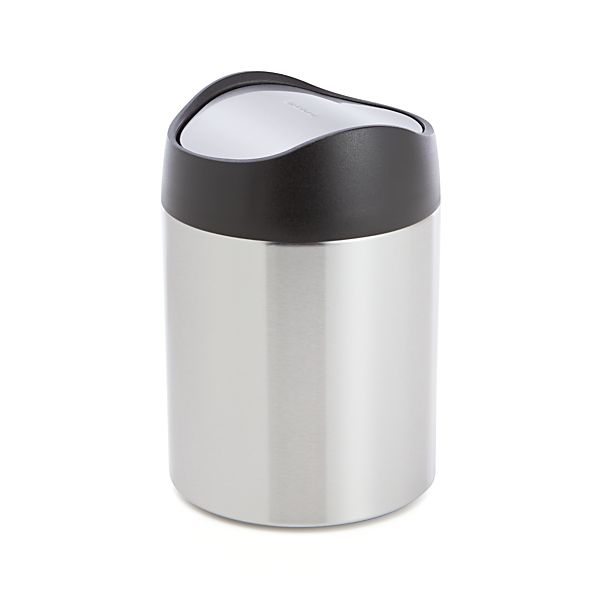 Countertop Garbage Can : ... ? Brushed Stainless Steel Countertop Trash Can Crate and Barrel