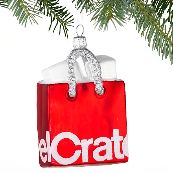 Crate and Barrel Shopping Bag Ornament