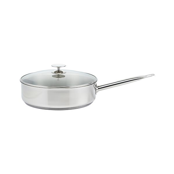 Stainless 5 qt. Jumbo Saute Pan with Lid by Berndes for Crate and Barrel