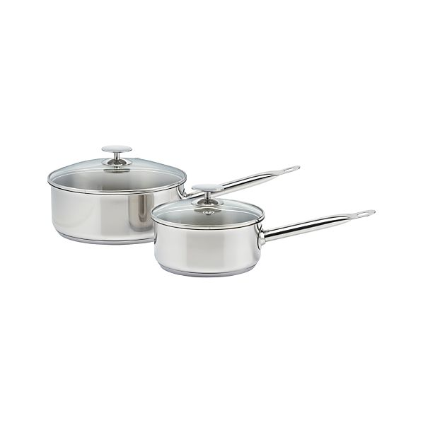 Stainless Sauce Pans by Berndes for Crate and Barrel