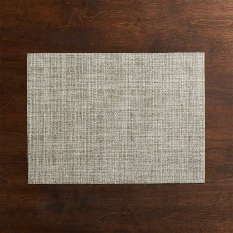 Our exclusive tonal weave of easy-care vinyl-polyester adds earthy neutrals to the indoor or outdoor table.<br /><br /><NEWTAG/><ul><li>100% woven vinyl</li><li>Clean with a damp cloth; air or towel dry and store flat</li><li>Made in USA</li></ul>