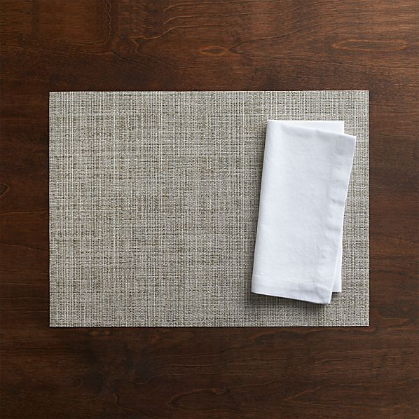 Chilewich® Crepe Neutral Placemat and Adobe Napkin