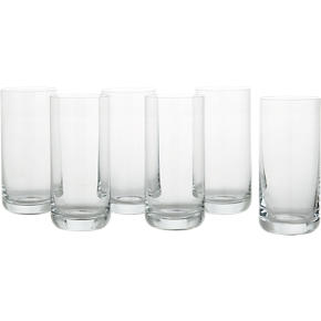 Set of 6 Crescent 16 oz. Cooler Glasses