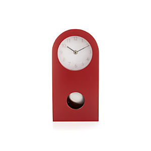 Crimson Mantel Clock