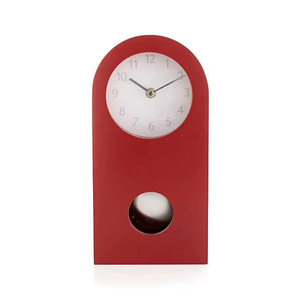 Crimson Mantel Clock
