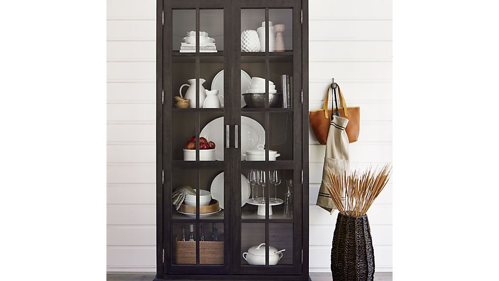 Crockery Cabinet In Storage Cabinets Crate And Barrel