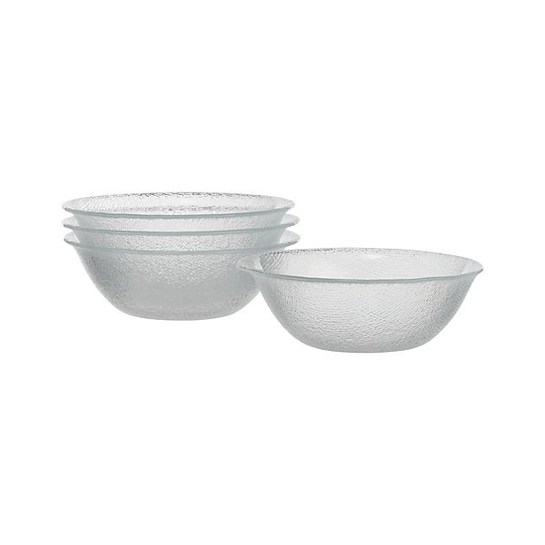 Set of 4 Cotton Clear Bowls