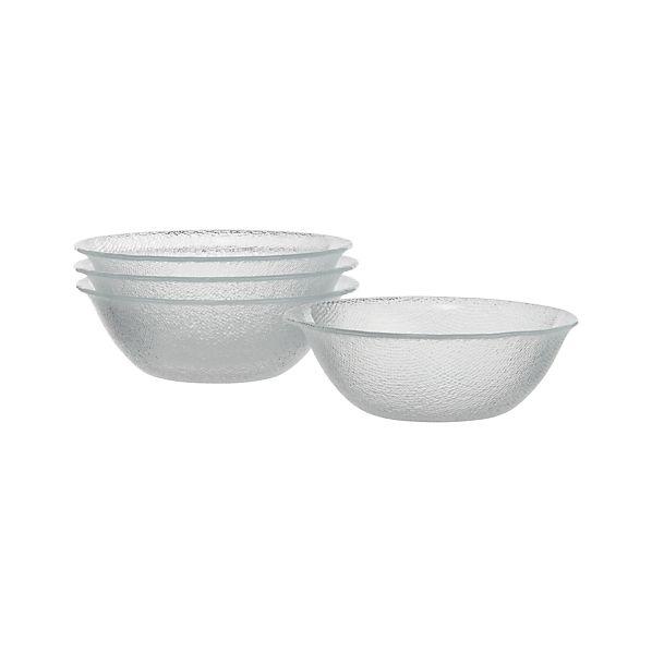 Set of 4 Cotton Clear Bowls