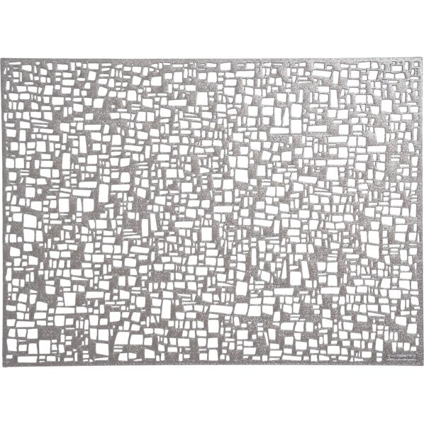 Chilewich ® Cubic Gunmetal Placemat
