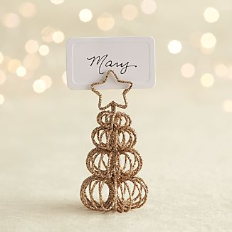 Curl Tree Gold Placecard Holder-Ornament