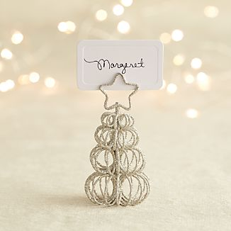 Curl Tree Silver Placecard Holder-Ornament