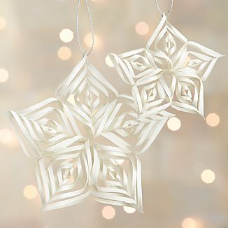 Curled Paper Star Ornaments