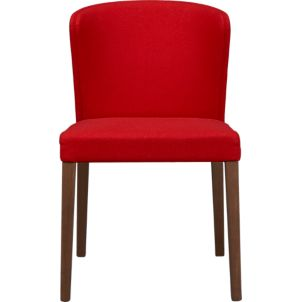 Lowe Red Leather Side Chair Crate And Barrel
