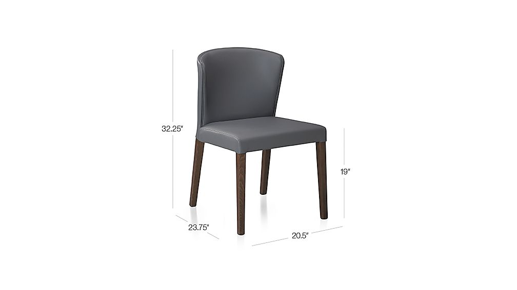 Curran Grey Side Chair Dimensions