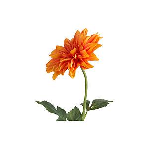 Orange Dahlia Artificial Flower Stem