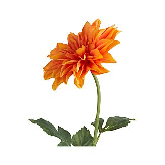Orange Dahlia Artificial Flower Stem