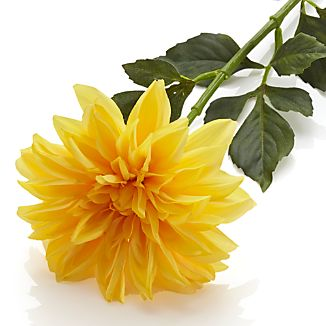 Yellow Dahlia Artificial Flower Stem