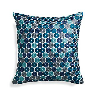 "Dara Blue 16"" Pillow"