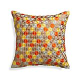 "Dara Orange 16"" Pillow with Feather Insert"