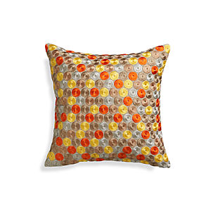 """Dara Orange 16"""" Pillow"""