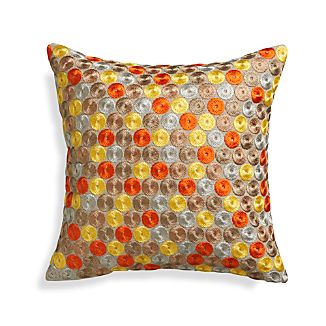 "Dara Orange 16"" Pillow"