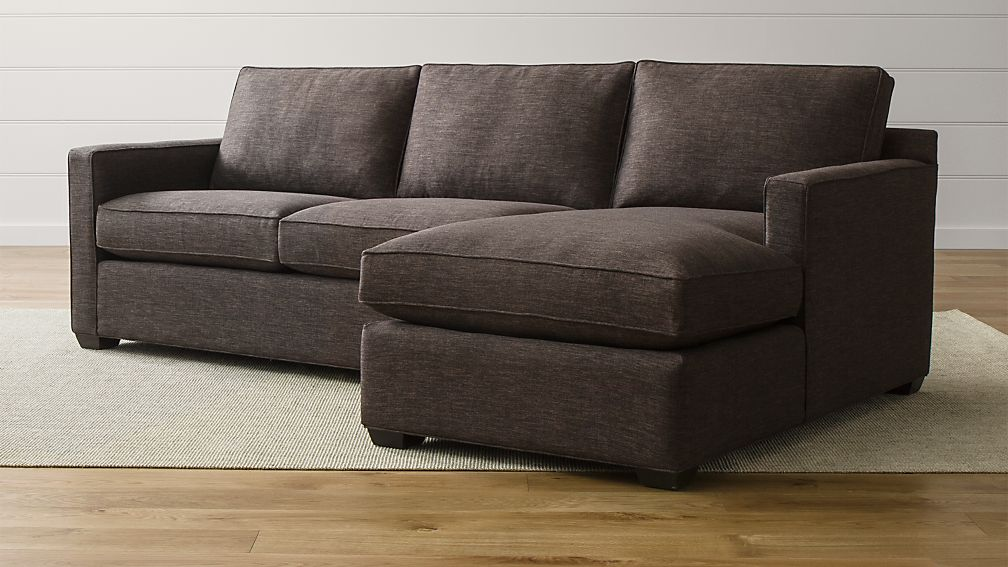 Davis 2 piece sectional sofa crate and barrel for Davis 2 piece sectional sofa